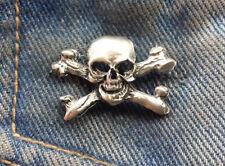 Skull and Cross Bonesl Pewter Pin Badge