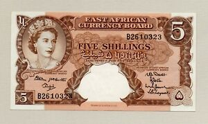 East African Currency Board 5 Shillings Note Mint