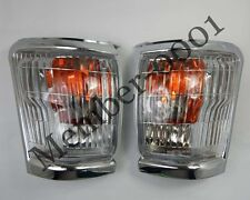 Front Corner Turn Signal Light Lamp Chrome for 97-01 Toyota Hilux LN145 Pickup
