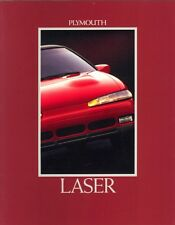 1992 Plymouth Laser RS RS Turbo RS Turbo AWD Dealer Sales Brochure