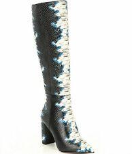 New Gianni Bini Kellbie Snake Print Leather Upper Knee High Boots 8M