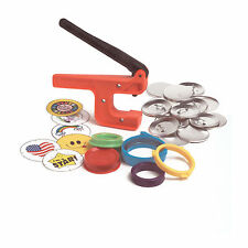 "New!  Badge-A-Minit 2 1/4"" Button Hand Press Starter Kit   #1007"