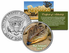 BLUE-TONGUED SKINK Collectible Reptiles JFK Half Dollar US Colorized Coin LIZARD