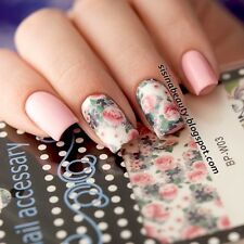 Flower Leaves Nail Art Water Decals Manicure Transfer Stickers DIY BORN PRETTY