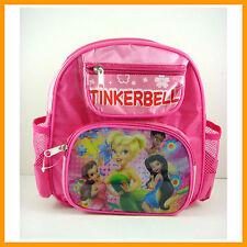 NEW TINKERBELL Peter Pan & Friends Kids School Backpack Rucksack Book Bag +BADGE