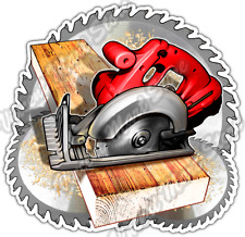Circular Saw Wood Work Carpenter Lumberjack Car Bumper Vinyl Sticker Decal 4.6""