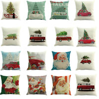 Christmas Printed Dyeing Throw Pillow Case Cushion Cover Home Decor Xmas 2020 UK