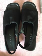 high lights black fabric sling womens shoes size 7.5 used