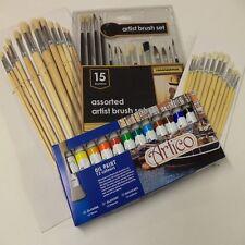 45PC artisti pittura ad olio e Brush Set hobby artigianato MODELLISMO belle grandi dimensioni