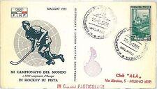 SPORT -  HOCKEY: POSTAL HISTORY - ITALY 1955