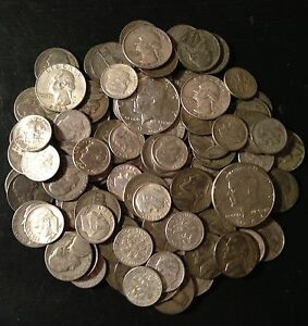 Spring Wholesale!! Lot Old US Junk Silver  Coins 1/2  Pound   Pre-1965 ONE !