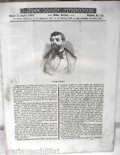 ANTICA STAMPA INCISIONE 1844 Leone Gozlan Uomo ed il paletot Stati italiani di e