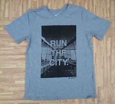 60a7d835bb6a7 Nike Track   Field Run The City Brooklyn Shirt ~ Men s Small S M ~ Gray  Cotton