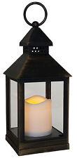 LED Kerze Windlicht Laterne Kupfer Optik Deko Grablicht Leuchte Lampe Flacker