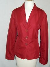 ARMANI COLLEZIONI Solid RED Polyester Lightweight Blazer Jacket - 10 - EUC