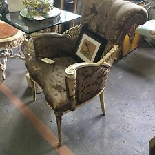 Antique Ornate Hollywood Regency Carved Art Deco Nouveau Fine Quality Pr Chairs