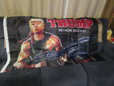 New listing Awesome -Trump Rambo 3x5 Flag - Reinforced header with brass grommets