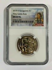 2019 D NGC MS67 PL Sacagawea $1 Dollar Mary Golda Ross