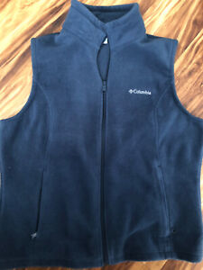 Columbia navy blue fleece vest men's size XL