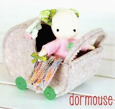 DORMOUSE- Sewing Craft PATTERN - Cloth Felt Doll Mouse