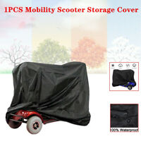 1PC Mobility Scooter Storage Cover Wheelchair Waterproof Rain Protection Black