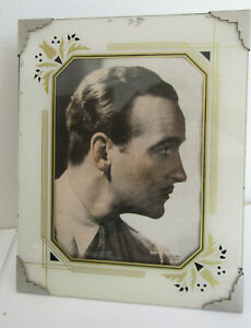 """David Niven colorized picture, antique 10x8"""" frame, RKO pictures printed in USA"""