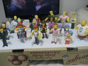 Lot of 19 Playmates Simpsons World of Springfield Intelli-Tronic Loose Figures