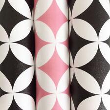 Schrankfolie Klebefolie Elliott Retro rosa schwarz 3 Rollen a 45 cm x 200 cm