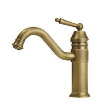 Antique Brass Single Handle Swivel Spout Bath Basinroom Sink Faucet Mixer Tap