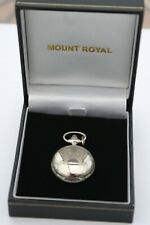 Mount Royal Full Hunter Silver Plated Lady's Pendant Necklace Watch