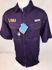 LSU  Columbia Low Drag Off-Shore Short Sleeve Shirt  Size:  Large
