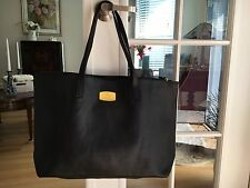 JOY Mangano Guinuine Leather Tote Bag with RFID Clutch, Laptop Bag, Black - new