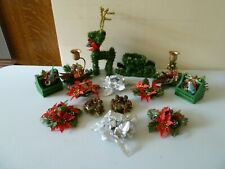 VINTAGE COLLECTIBLE CHRISTMAS ORNAMENTS BUNDLE - PROP DISPLAY