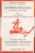 1963 – BUTTITTA, LU TRENU DI LU SULI – SICILIA  CANTI DI PROTESTA AUTOGRAFO