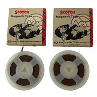"Lot of 2 Scotch Reel to Reel Tape Magnetic 1/4"" Tape, 3"" Reel, Vintage 1961"