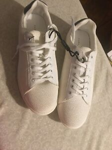Zara Man  Retro Sneakers (MEN's) White with Navy Trim Shoes Size 41 US 8M