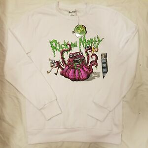 NEW Rick And Morty Size Large White Jumper Primark With Tags NWT - SE35