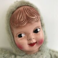 Vintage Well Worn Loved Rubber Face Plush Prop Stuffed Animal Cute Girl Doll