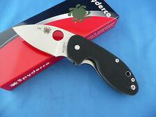 Spyderco C246GP Insistent Knife Black G-10 8Cr13MoV Plain Edge Collector #156
