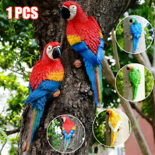 Resin Parrot Statue Lifelike Bird Ornament Model Figurine Outdoor Lawn Sculpture