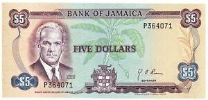 1960 (1970) Jamaica $5 Dollars P#56  #13331