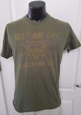 501st AIR CAV Strike First BLACKHAWK SQD Squad Army Green T Shirt Size Medium