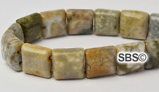 Ocean Jasper #2 10x10mm 2-Hole Square Stone Beads (approx. 16 inch strand)