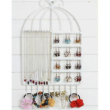 One-piece Jewelry Organizer Hanging Holder Display Wall Earring Necklace White