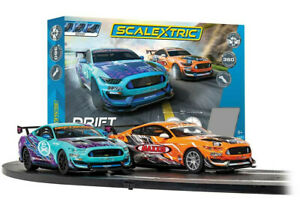 C1421 C1421M Scalextric Drift 360 Racing Car Set Bundle Gift Ford Mustang Boxed