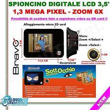 SOTTOCCHIO BRAVO SPIONCINO DIGITALE ELETTRONICO,REGISTRA, MONITOR LCD 1,3 MPX