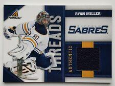 2011 Pinnacle Threads 351/499 Ryan Miller Jersey Card