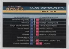 1995 SkyBox Star Trek: Voyager Season One Series 2 #90 Checklist B Card 6b1