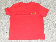 Jack Wolfskin Kids Outline T-Shirt NEU 128  rot