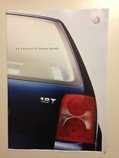 CATALOGUE BROCHURE VOLKSWAGEN PASSAT BREAK 2000